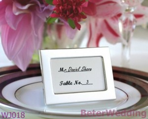 placement card for wedding dinner