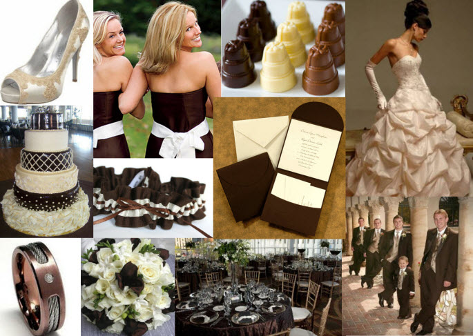 Chocolate Brown And Ivory Wedding Colors