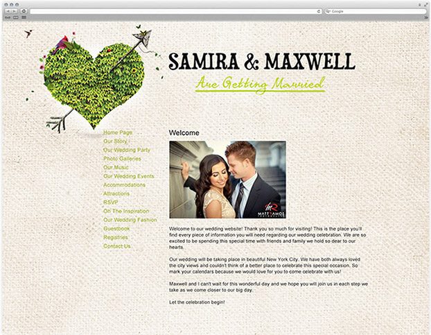 Wedding Websites Ideas: IWeddings: Using The Internet To Plan Your Wedding